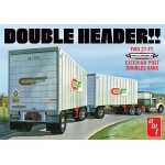 1:25 Double Header Tandem Van Trailers