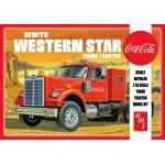 1:25 White Western Star Semi Tractor (Coca Cola)