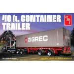 1:25 40ft Semi Container Trailer