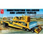 1:25 Lowboy Trailer & Bulldozer Combo Kit