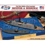 Monitor and Merrimack Civil War Set