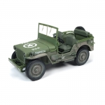1:18th 1941 Jeep Willys - Olive Drab Dirty Version