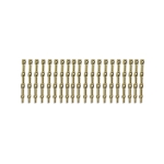 20mm Brass 3 Hole Rail Stanchion x 20