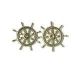25mm Brass Ships Wheel x 2