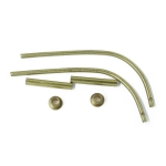 15x70mm Brass Davit and Mount x 2