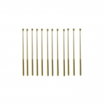55mm Brass 1 Hole Rail Stanchion x 12