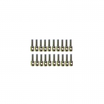 6mm Brass 1 Hole Stanchion / Eyebolts x 20
