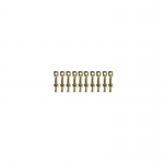 7mm Brass 1 Hole Rail Stanchion / Eyebolt x 10