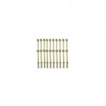 29mm Brass 2 Hole Rail Stanchion x 10