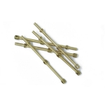 38mm Brass 2 Hole Rail Stanchion x 5