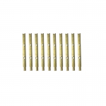 28mm Brass 2-3 Hole Flat Rail Stanchion x 10