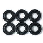 27mm Fender / Rubber Tires x 6