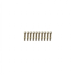 8mm Brass 1 Hole Rail Stanchion / Eyebolt x 10
