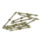 26mm Brass 1 Hole Rail Stanchion  x 10