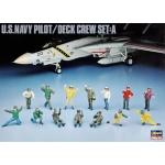 1:48 U.S.Navy Pilot and Deck Crew Set A