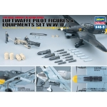 1:48 WWII German Pilot Figures & Equipment Set