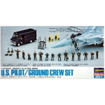1:72 U.S Pilot & Ground Crew Set