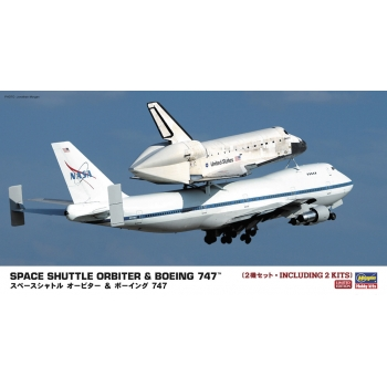 1:200 Space Shuttle Orbiter and Boeing 747