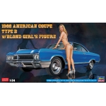 1:24 1966 American Coupe Type B with Blond Girl Figure