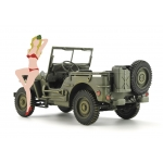 1:24 1/4 ton 4×4 Utility Truck With Blonde Girl Figure