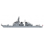 1:700 JMSDF DDG Myoko with Female SDF Official Figure