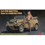 1:24 Kubelwagen With Blonde Girl Figure