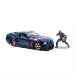 1:24 2006 Ford Mustang GT With Captain America Figure