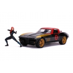 1:24 1966 Chevy Corvette and Black Widow Figure