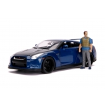 1:18 2009 Skyline GT-R R35 with Brian Figure