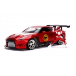 1:24 2009 Nissan GT-R and Red Power Ranger Figure