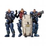 1:18 03ST Interstellar Troopers x 3 Action Figures