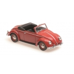 1:43 1950 Volkswagen Hebmuller - Cabriolet Black/Red