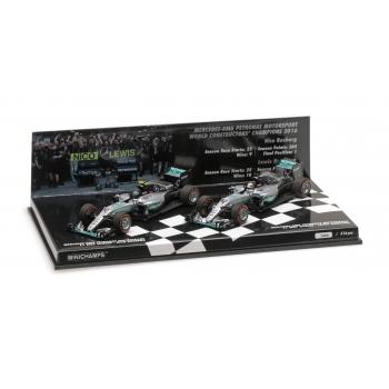 1:43 Mercedes AMG F1 2016 Constructor World Champions 2 Car Set