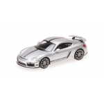 1:87 2016 Porsche Cayman GT4 - Silver with Black Stripe and Wording