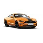1:87 2018 Ford Mustang - Orange Metallic with Black Stripes