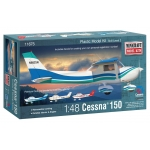 1:48 Cessna 150 with 3 marking options including custom registration numbers