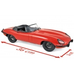 1:12 1962 Jaguar E-Type Cabriolet - Red