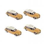 1:87 Citroen ID Break 1960 - Brown - Pack of  4