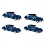 1:87 1972 Citroen DS 23 Pallas - Oriental Blue x 4