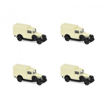 1:87 1935 Citroen U11 Truck - Cream & Black