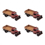 1:87 1958 Citroen Type 23 - Red and Brown Bed x 4