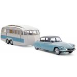 1:18 1959 Citroen DS 19 & Caravane Henon