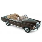 1:18 1969 Mercedes 280 SE Cabriolet - Dark Brown