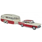 1:18 1958 Simca Vedette & Caravane Henon - Cardinal Red & Ivory