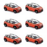 1:64 2017 Citroen C3 Aircross - Orange & White - Pack 6