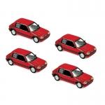 1:87 1987 Peugeot 205 GTi 1.9 - Vallelunga Red x4