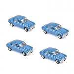1:87 1966 Peugeot 204 - Pervenche Blue x4