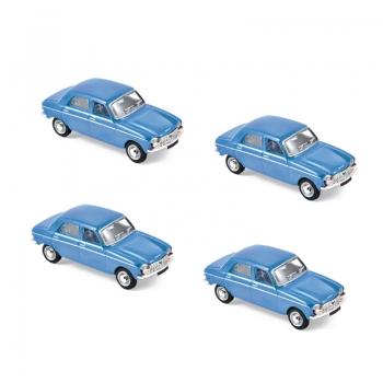1:87 1966 Peugeot 204 - Pervenche Blue x 4