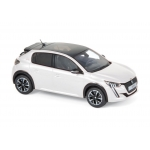 1:43 2019 Peugeot 208 GT Line - Pearl White