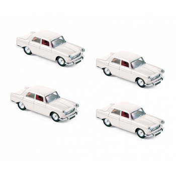 1:87 1968 Peugeot 404 - Courchevel White (x4)